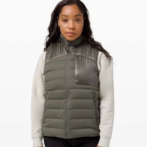 LULULEMON Navigation Stretch Down Vest - Grey Sage